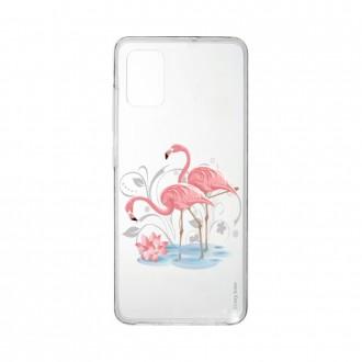 Coque pour Samsung Galaxy A41 souple Flamant rose Crazy Kase