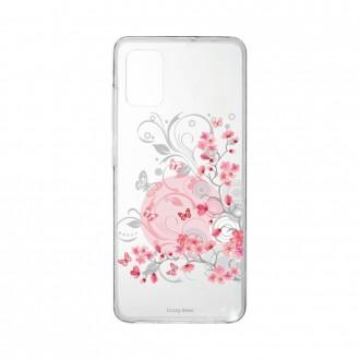 Coque pour Samsung Galaxy A41 souple Fleur et papillon Crazy Kase
