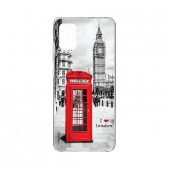 Coque pour Samsung Galaxy A41 souple I love London Crazy Kase