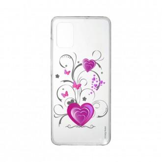 Coque Samsung Galaxy A41 souple Coeur et papillon Crazy Kase