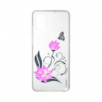 Coque Samsung Galaxy A41 souple Fleur de lotus et papillon Crazy Kase