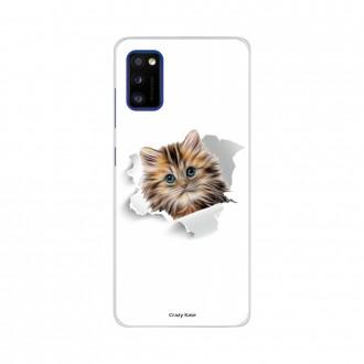 Coque Samsung Galaxy A41 souple Chat mignon Crazy Kase