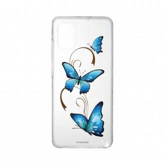 Coque Samsung Galaxy A41 souple Papillon sur arabesque Crazy Kase