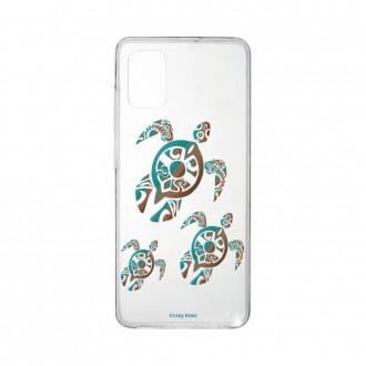 Coque Samsung Galaxy A41 souple Famille Tortue Crazy Kase