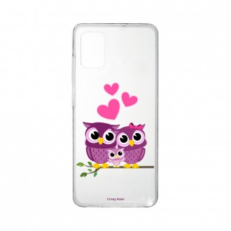 Coque Samsung Galaxy A41 souple Famille Chouette Crazy Kase