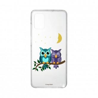 Coque Samsung Galaxy A41 souple Chouettes au clair de lune Crazy Kase