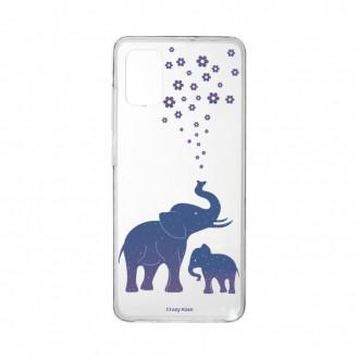 Coque Samsung Galaxy A41 souple Eléphant Bleu Crazy Kase