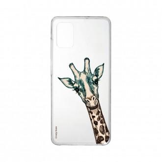 Coque Samsung Galaxy A41 souple Tête de Girafe Crazy Kase