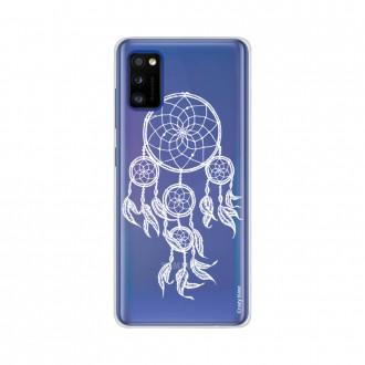 Coque Samsung Galaxy A41 souple Attrape rêves blanc Crazy Kase