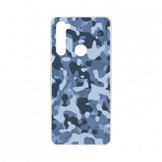 Coque Xiaomi Redmi Note 8 souple Camouflage militaire bleu Crazy Kase