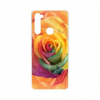 Coque Xiaomi Redmi Note 8 souple Rose fleur colorée Crazy Kase