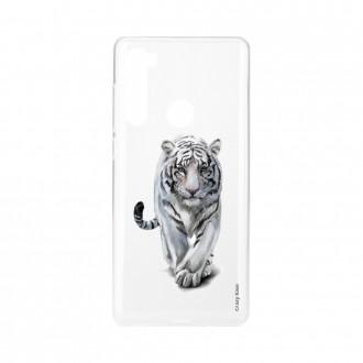 Coque Xiaomi Redmi Note 8 souple Tigre blanc Crazy Kase