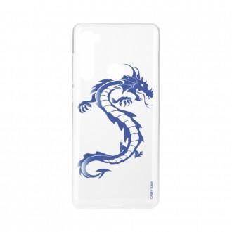 Coque Xiaomi Redmi Note 8 souple Dragon bleu Crazy Kase