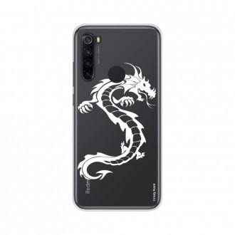 Coque Xiaomi Redmi Note 8 souple Dragon blanc Crazy Kase