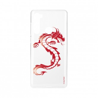 Coque Xiaomi Redmi Note 8 souple Dragon rouge Crazy Kase