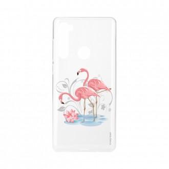 Coque Xiaomi Redmi Note 8 souple Flamant rose Crazy Kase
