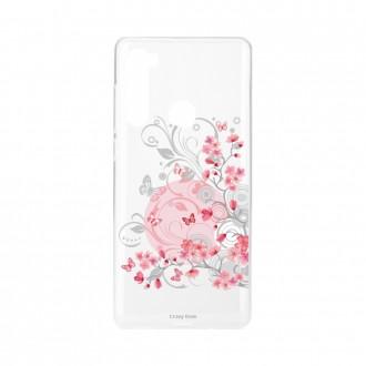 Coque Xiaomi Redmi Note 8 souple Fleur et papillon Crazy Kase