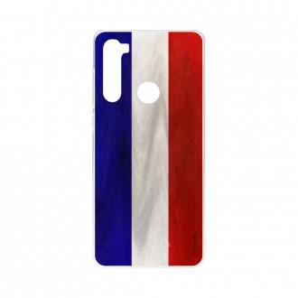 Coque Xiaomi Redmi Note 8 souple Drapeau Français Crazy Kase