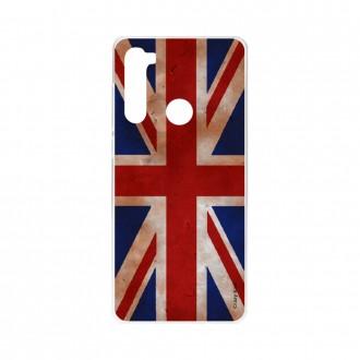 Coque pour Xiaomi Redmi Note 8 souple Drapeau UK vintage Crazy Kase