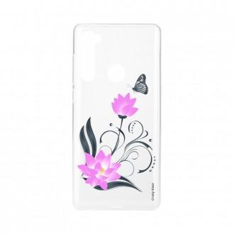 Coque Xiaomi Redmi Note 8 souple Fleur de lotus et papillon Crazy Kase