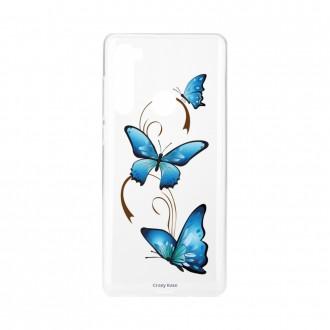 Coque Xiaomi Redmi Note 8 souple Papillon sur arabesque Crazy Kase