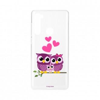 Coque Xiaomi Redmi Note 8 souple Famille Chouette Crazy Kase