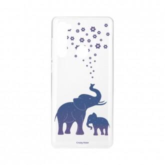 Coque Xiaomi Redmi Note 8 souple Eléphant Bleu Crazy Kase