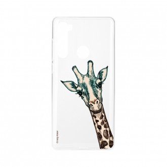 Coque Xiaomi Redmi Note 8 souple Tête de Girafe Crazy Kase