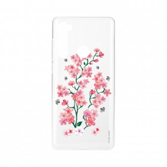 Coque Xiaomi Redmi Note 8 souple Fleurs de Sakura Crazy Kase