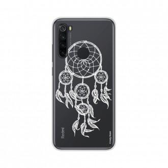 Coque Xiaomi Redmi Note 8 souple Attrape rêves blanc Crazy Kase
