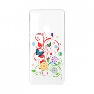Coque Xiaomi Redmi Note 8 souple Papillons et Cercles Crazy Kase