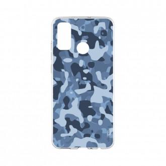 Coque Huawei P Smart 2020 souple Camouflage militaire bleu Crazy Kase