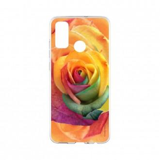 Coque Huawei P Smart 2020 souple Rose fleur colorée Crazy Kase