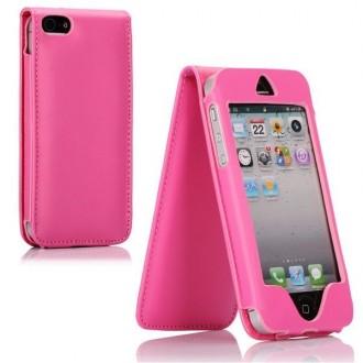 Housse rose ouverture verticale pour Apple iPhone 5