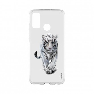 Coque Huawei P Smart 2020 souple Tigre blanc Crazy Kase