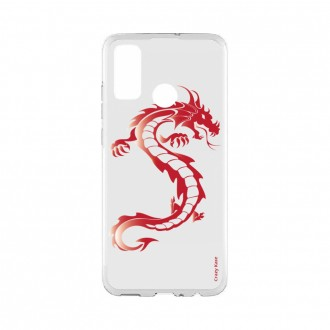 Coque Huawei P Smart 2020 souple Dragon rouge Crazy Kase