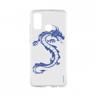 Coque Huawei P Smart 2020 souple Dragon bleu Crazy Kase