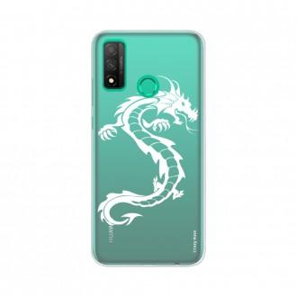 Coque Huawei P Smart 2020 souple Dragon blanc Crazy Kase