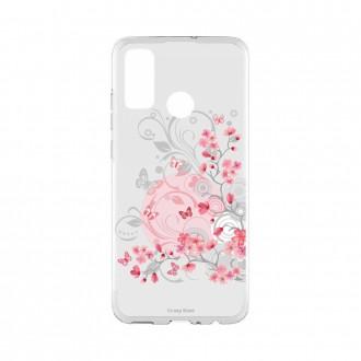 Coque Huawei P Smart 2020 souple Fleur et papillon Crazy Kase