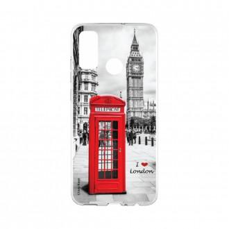 Coque Huawei P Smart 2020 souple I love London Crazy Kase