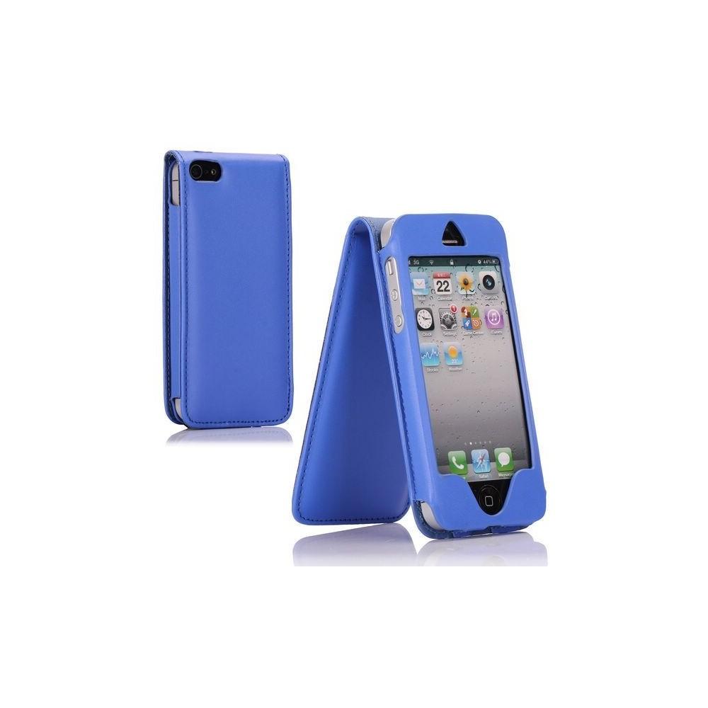 Housse bleue ouverture verticale pour Apple iPhone 5
