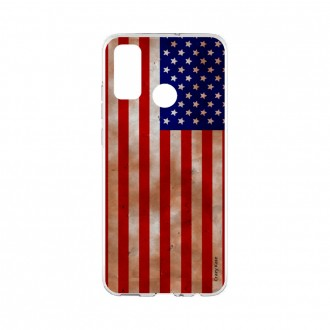 Coque Huawei P Smart 2020 souple Drapeau USA Crazy Kase