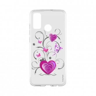 Coque Huawei P Smart 2020 souple Coeur et papillon Crazy Kase