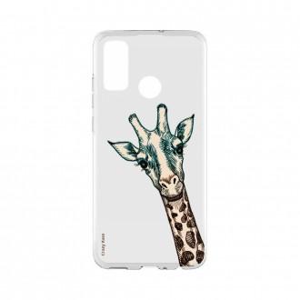 Coque Huawei P Smart 2020 souple Tête de Girafe Crazy Kase