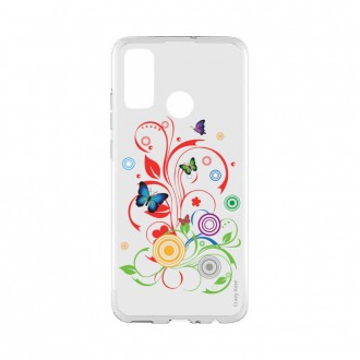 Coque Huawei P Smart 2020 souple Papillons et Cercles Crazy Kase