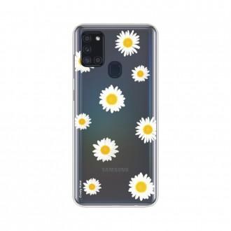 Coque Samsung Galaxy A21s souple Marguerite Crazy Kase