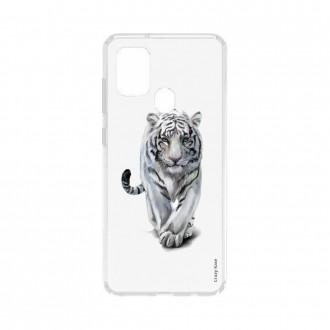 Coque Samsung Galaxy A21s souple Tigre blanc Crazy Kase