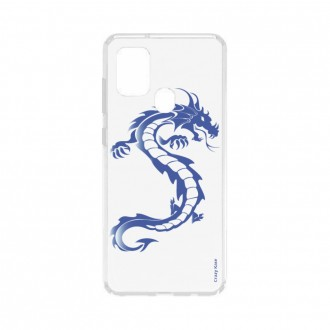 Coque Samsung Galaxy A21s souple Dragon bleu Crazy Kase