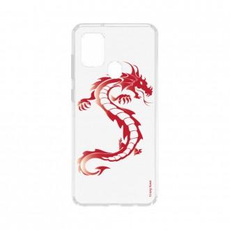 Coque Samsung Galaxy A21s souple Dragon rouge Crazy Kase