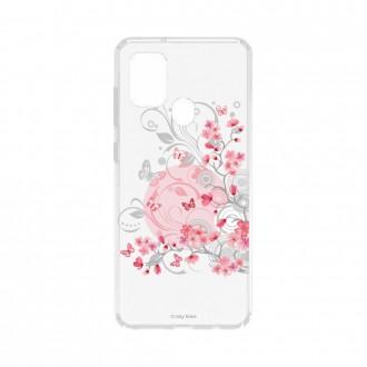 Coque Samsung Galaxy A21s souple Fleur et papillon Crazy Kase